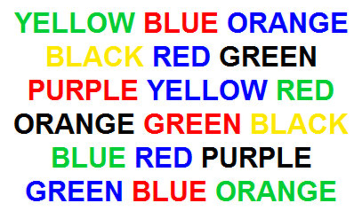 Try to read out aloud the color of each word. Quite difficult huh?