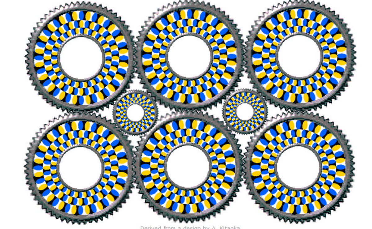 No, the image is not moving! Seriously!