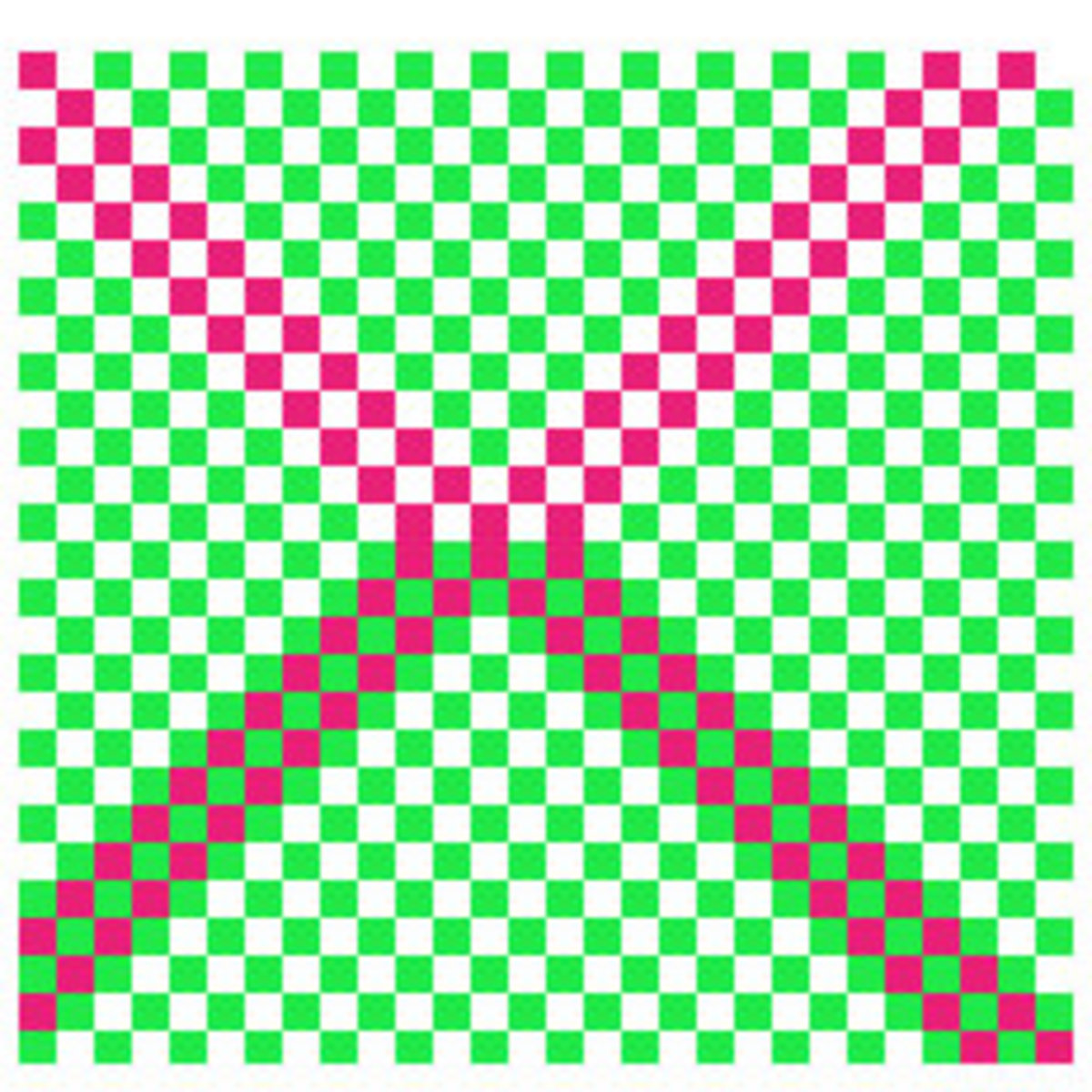 Is the colour on the upper part of the X and the lower part of the X - same ?               Apparently, they are!