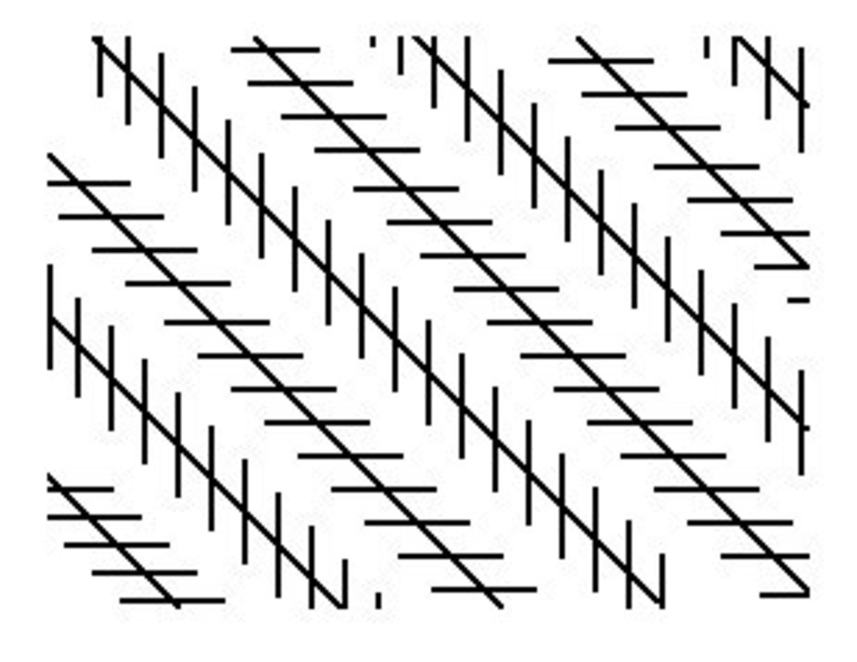 These lines are actually parallel to each other! Difficult to believe right ? It's called the Zllner illusion.