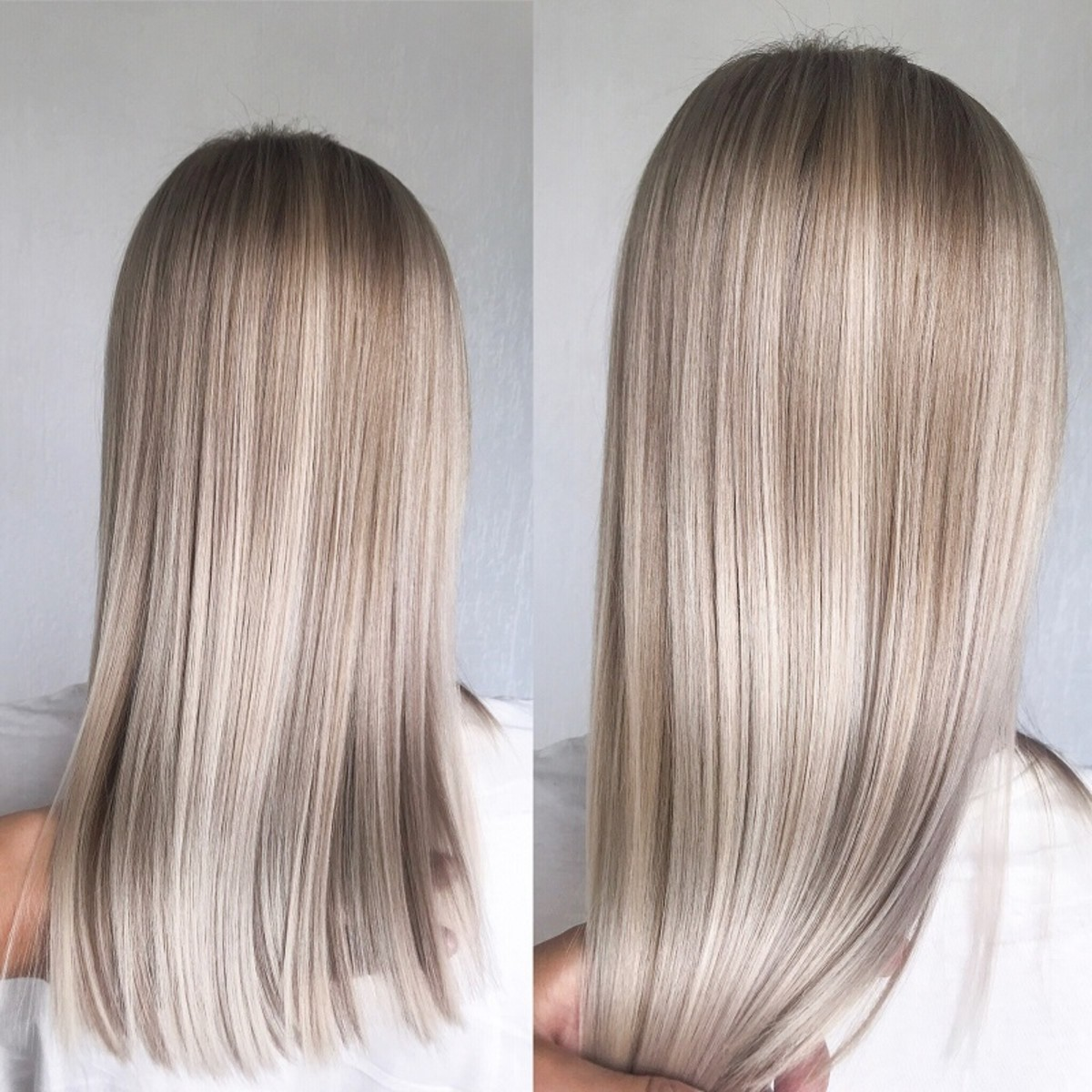 Acidic products like conditioner help to normalize your hair's structure again after lightening for a smoother and shinier appearance.