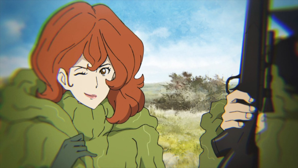 Fujiko Mine participating in one of Lupin's schemes.