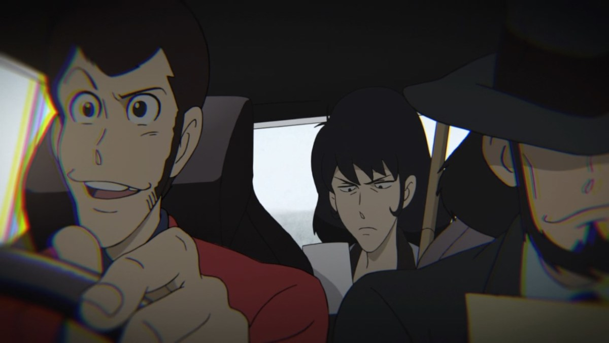 Lupin, Jigen and Goemon out for a drive on their day off.