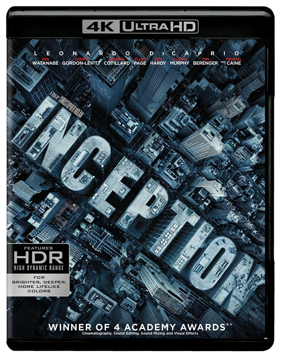 """""""Inception"""" 4K blu-ray official cover."""