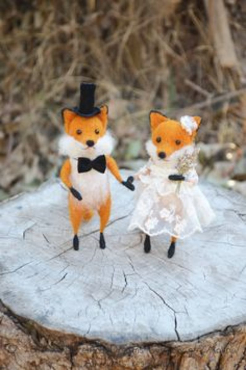 A reynard and vixen getting hitched.