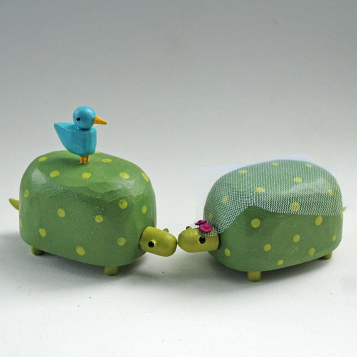 Little wooden turtles!