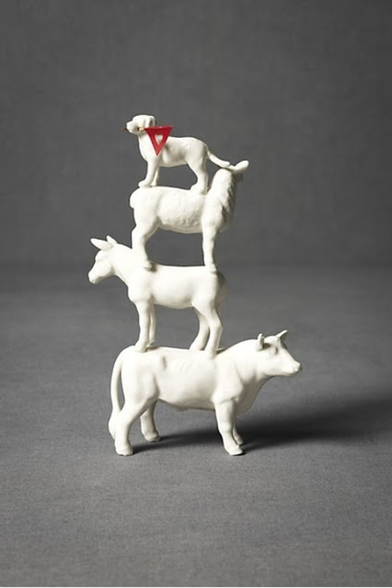 The stability of the bull, the modesty of the donkey, the purity of the sheep, and the loyalty of the dog.