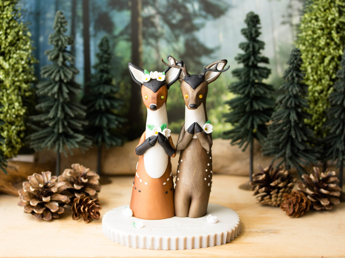 Animal Wedding Cake Toppers
