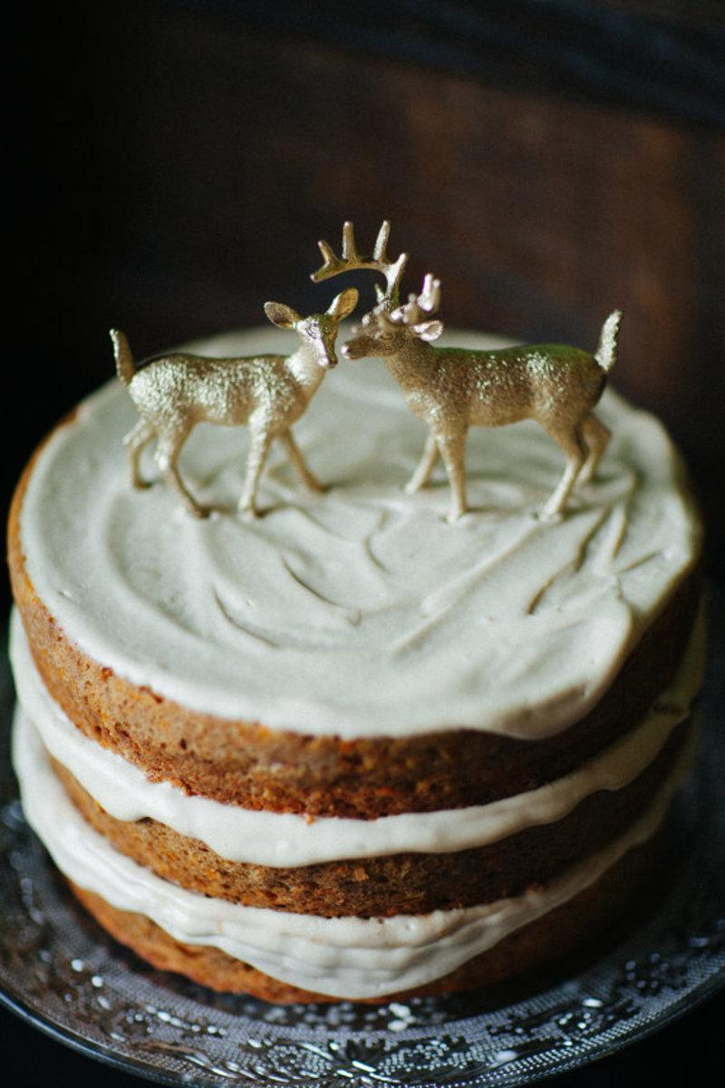 Cute deer on a cute cake.