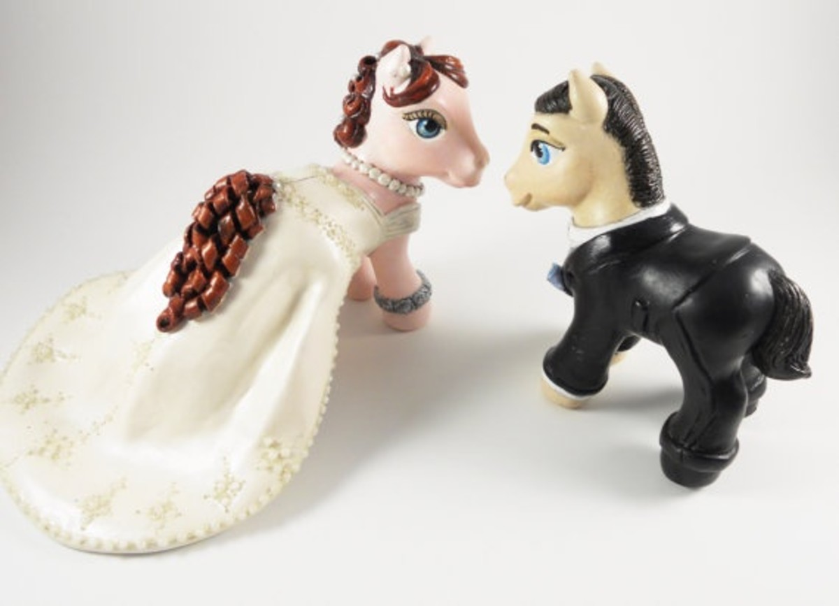 These custom My Little Pony toys are all dressed up for their big day.
