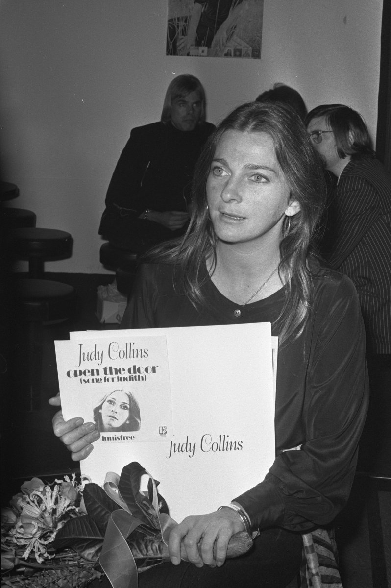 Judy Collins in The Hilton Hotel Amsterdam in 1971.