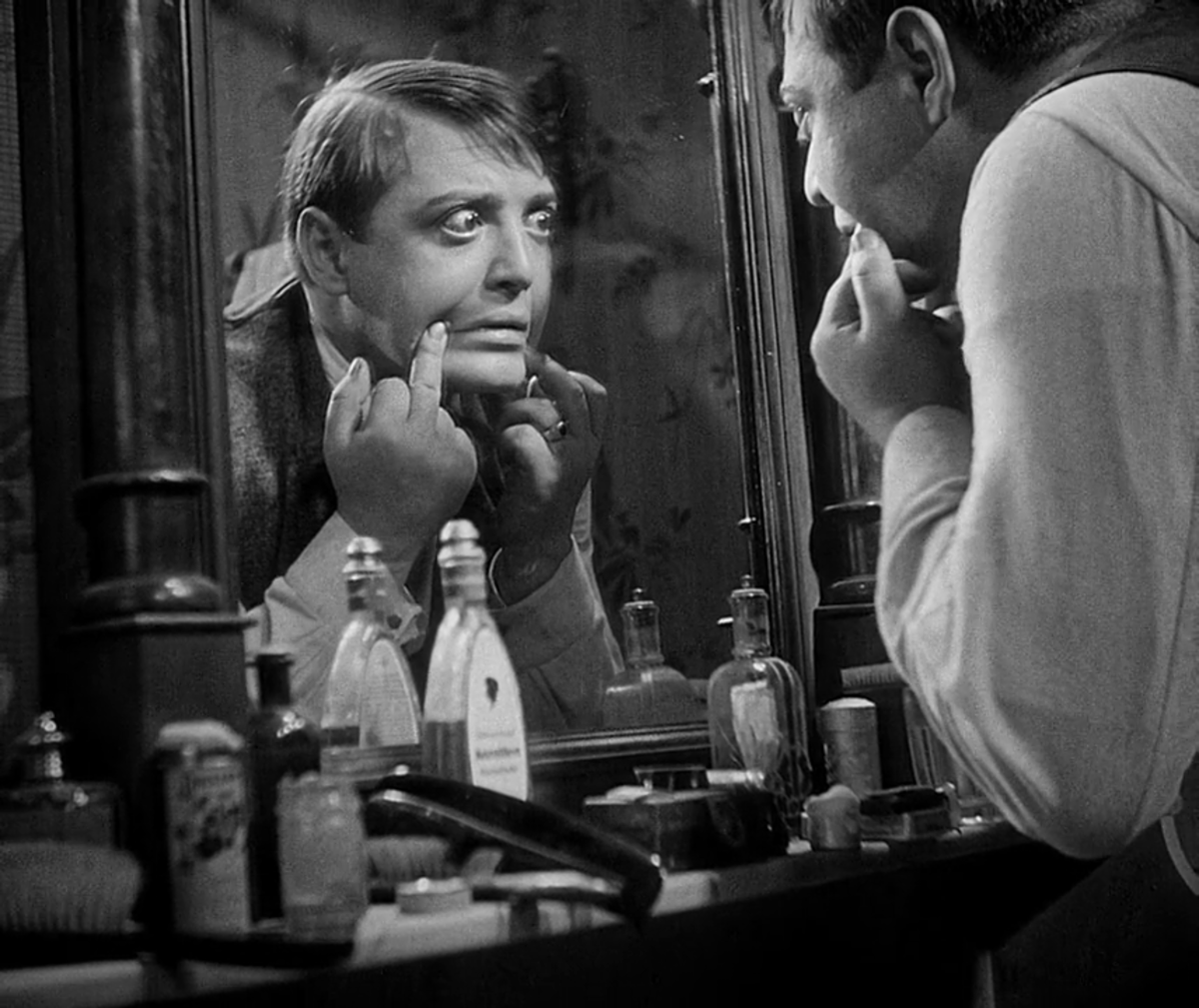 Lorre maximises every second of screen time to portray a genuinely unsettling character, a role that would typecast him throughout his career.