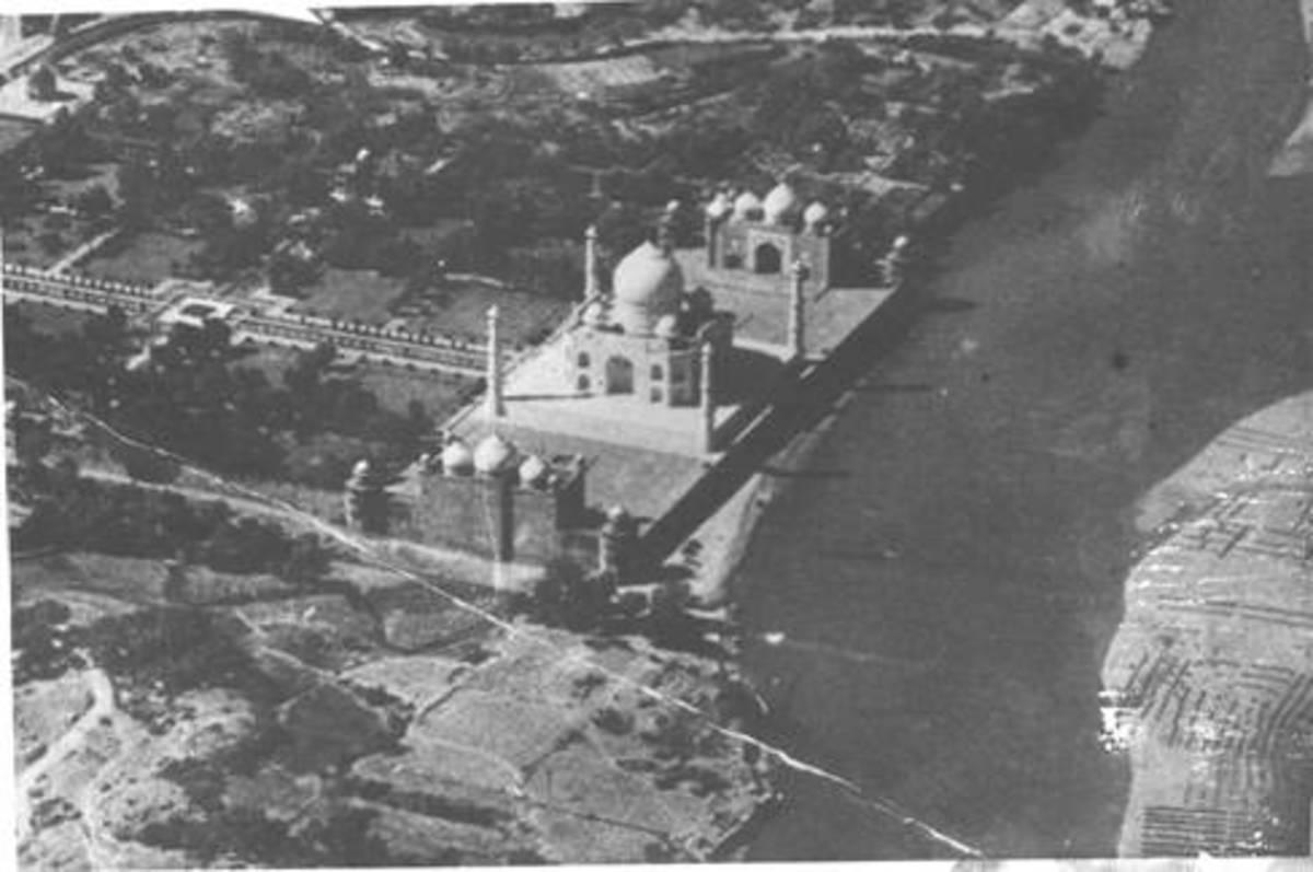 Aerial view of the Taj Mahal