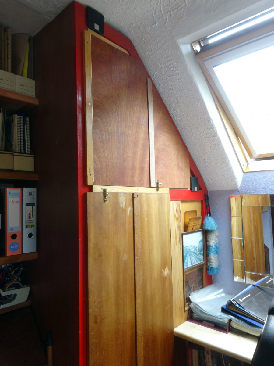 Modified Built-in wardrobe and cupboard in our home-office