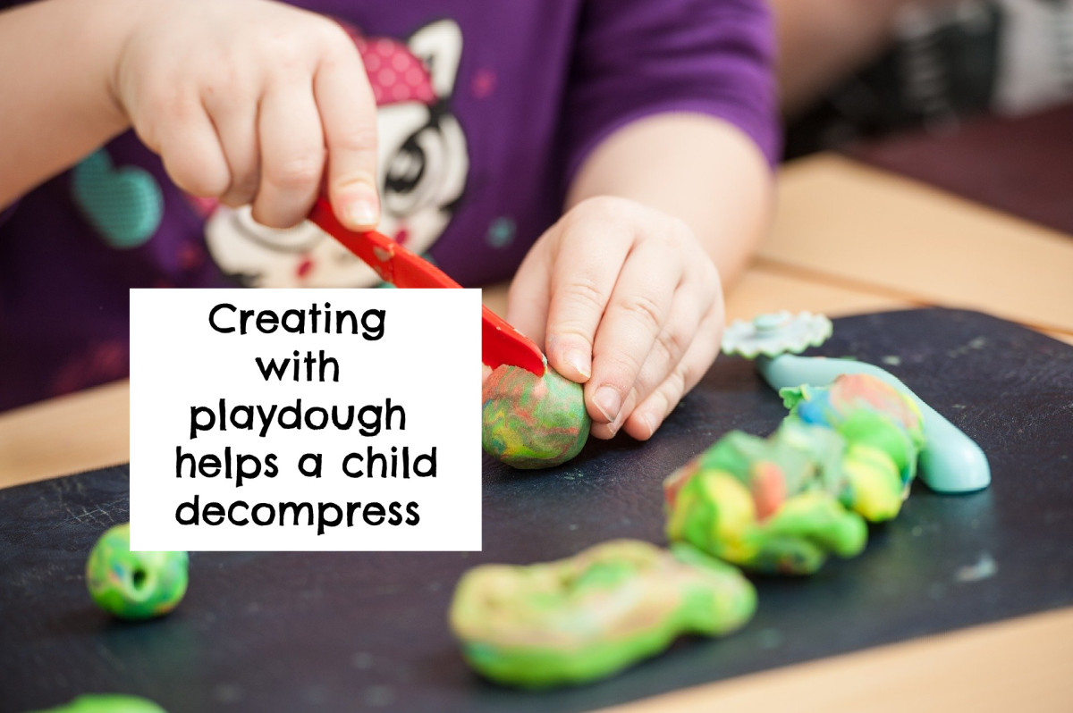 Playdough is familiar and, thus, reassuring and soothing for preschoolers.