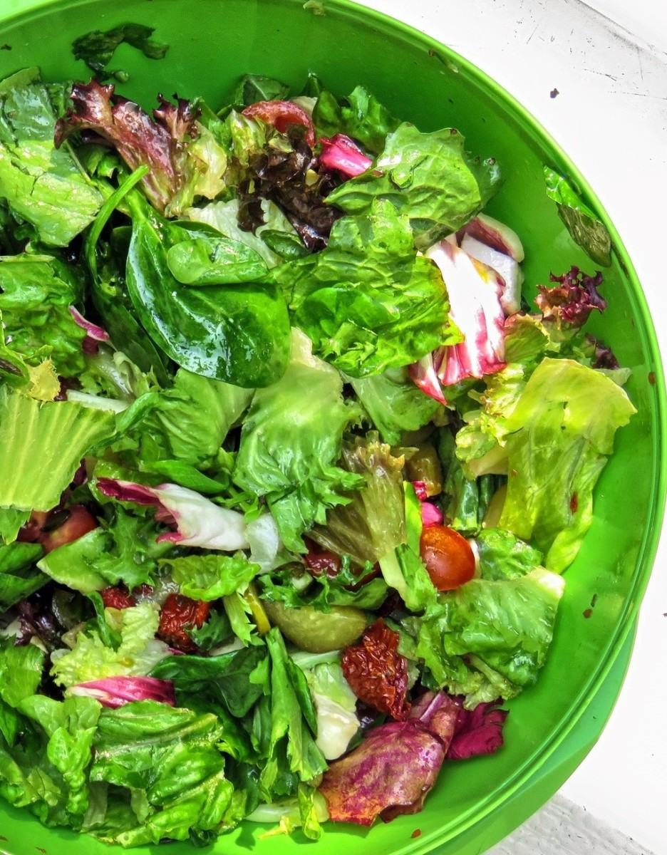 Fresh salad greens. The more the merrier!