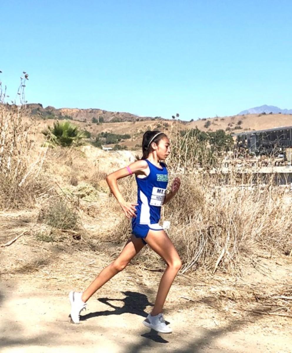 Melissa Mekitarian a track and field athlete. Photo courtesy George Mekitarian.