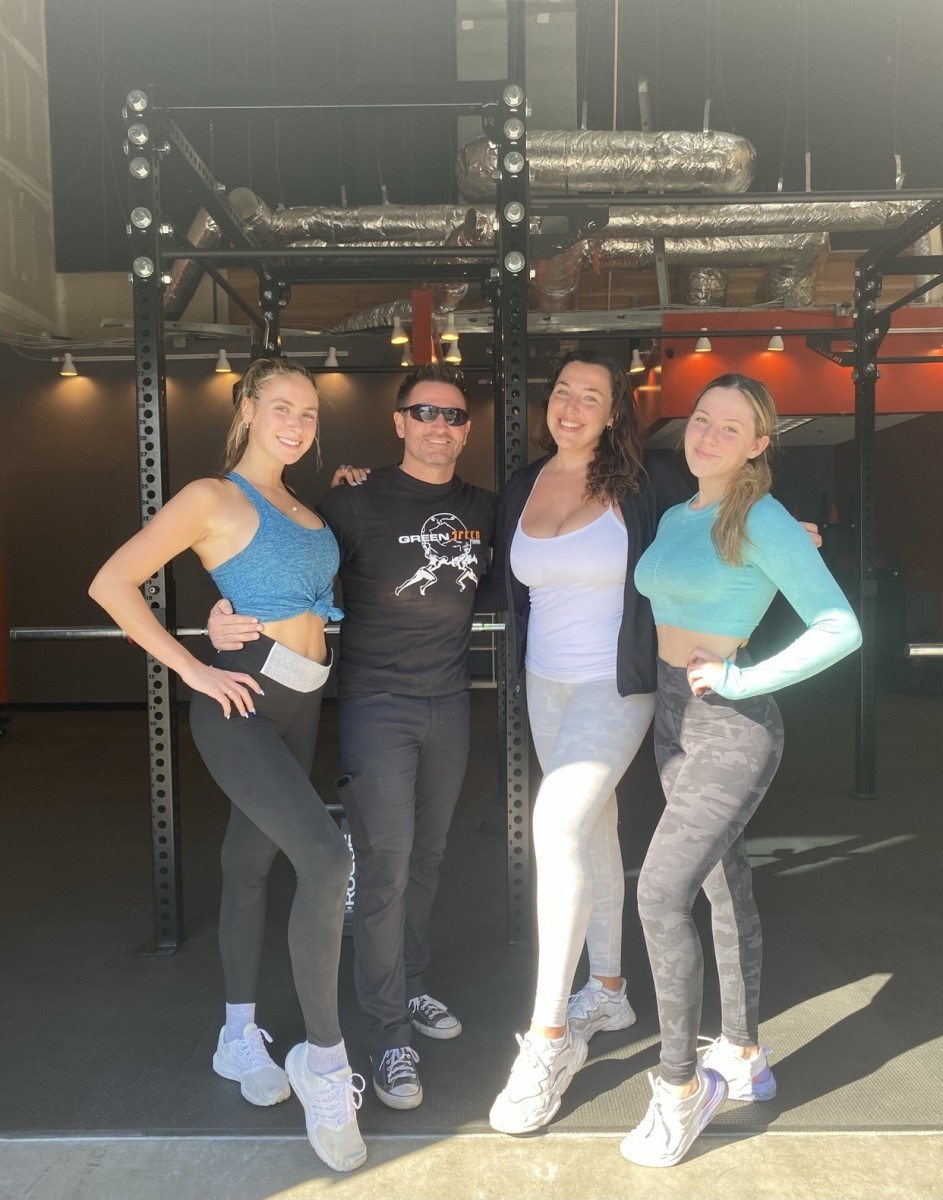 Tom Green with clients at GreenSpeed Training Facility, located in the Eastlake neighborhood of Chula Vista. Photo courtesy Kelly Johnson.