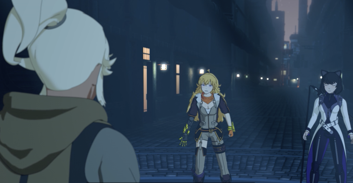 Yang and Blake inform Robyn about Amity Tower
