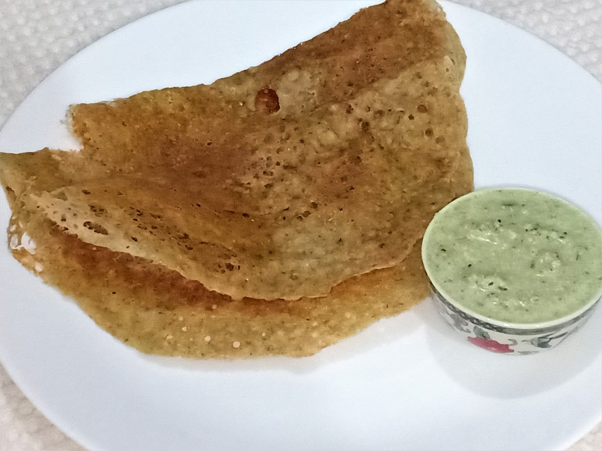 Instant oats dosas are crisp and delicious