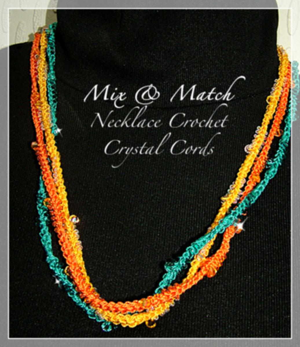 Beaded Fiinger Crochet Necklace