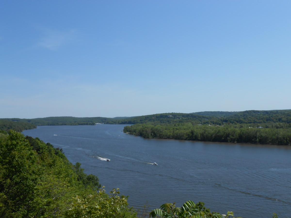 A view of the Connecticut River from the castle terrace.