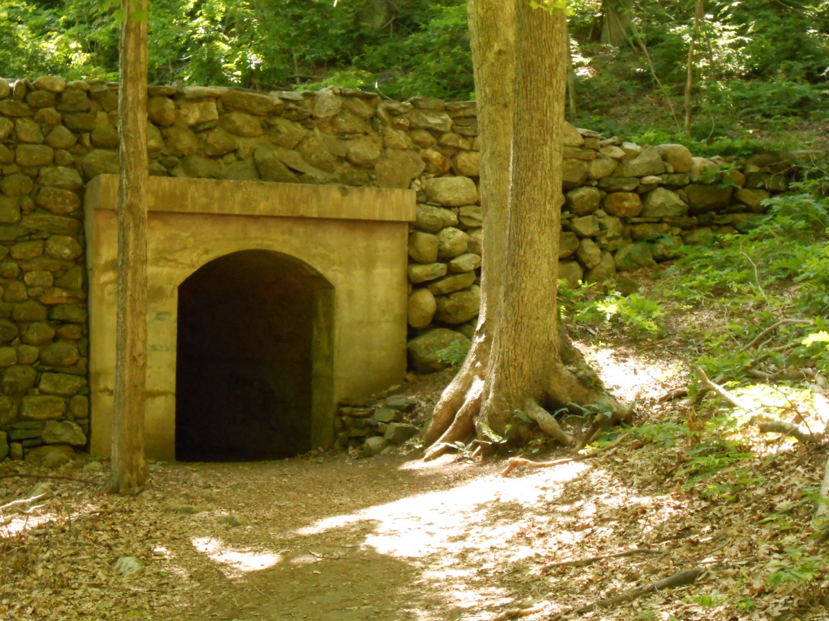 The old gauge railroad tunnel.