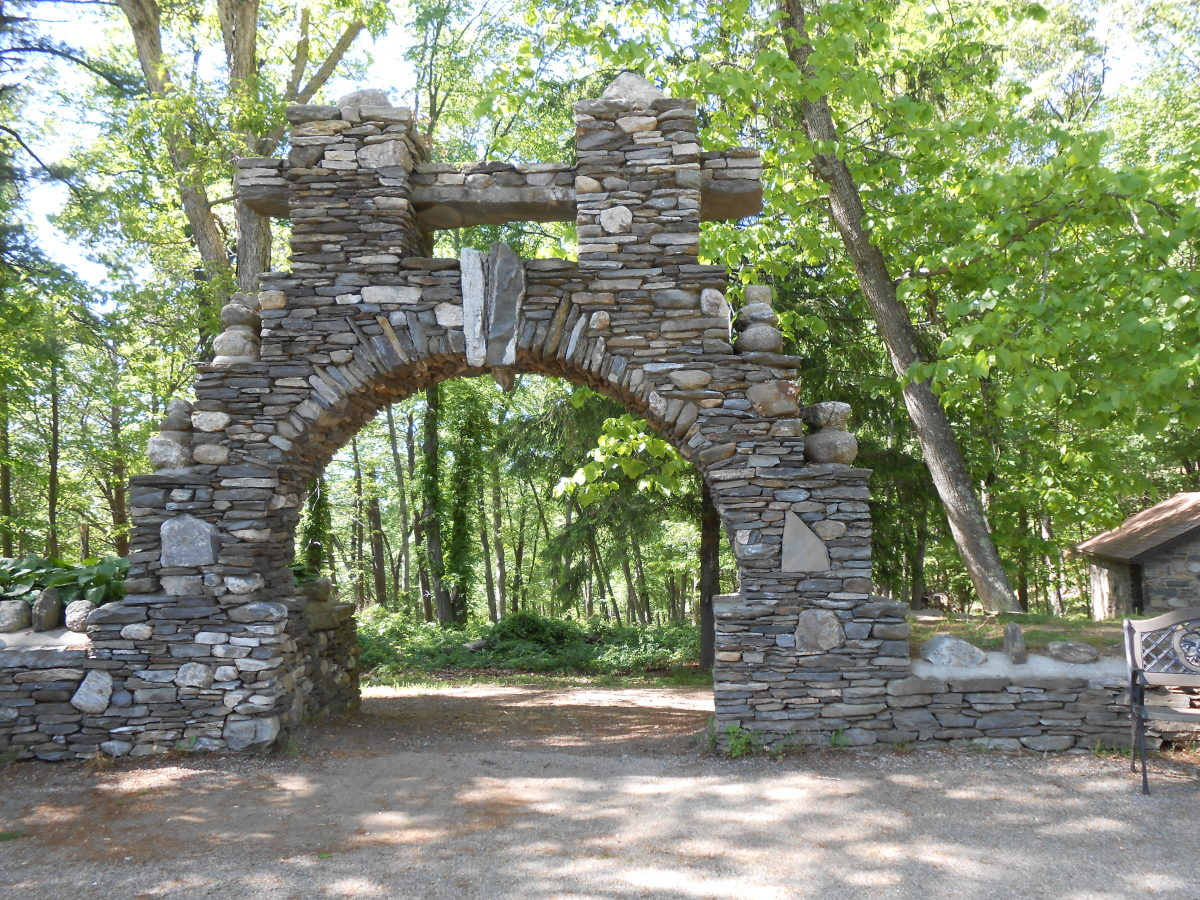One of the many stone archways on the castle grounds.