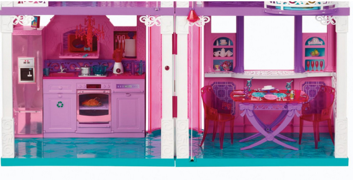 Barbie Fashionista Doll House first floor full of fun!