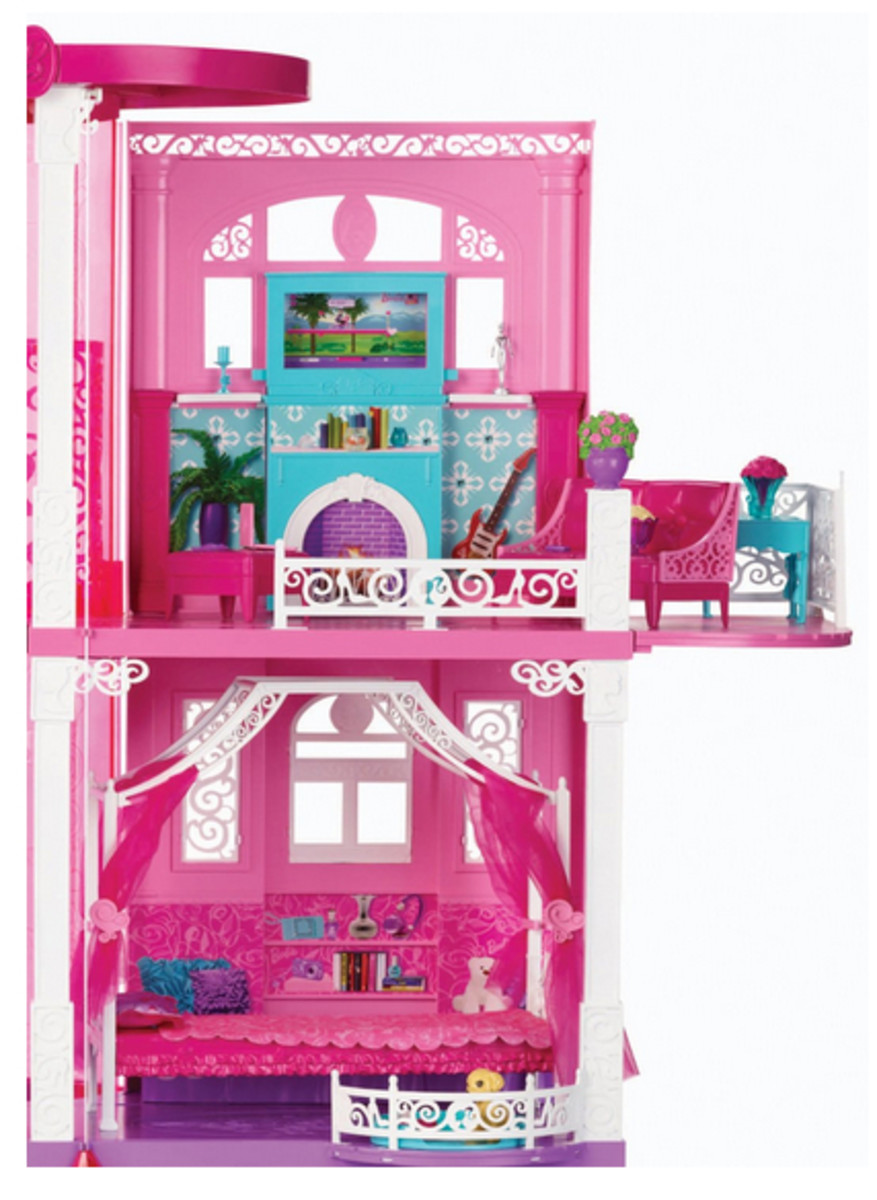 Barbie Fashionista Doll House Side view top floors