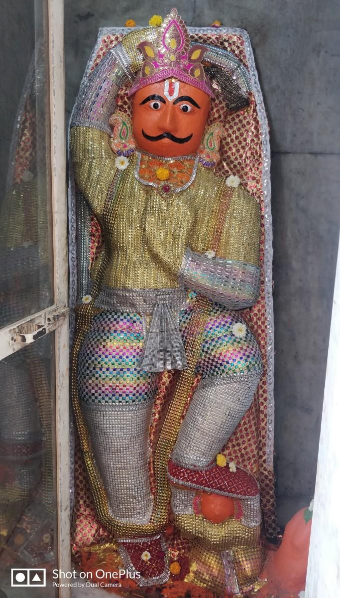Lord Hanumana inside the main temple