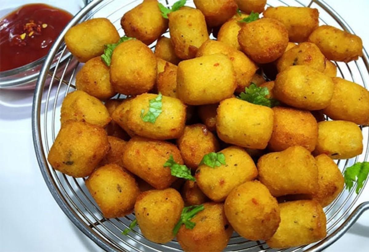 Super crispy potato popcorn snack