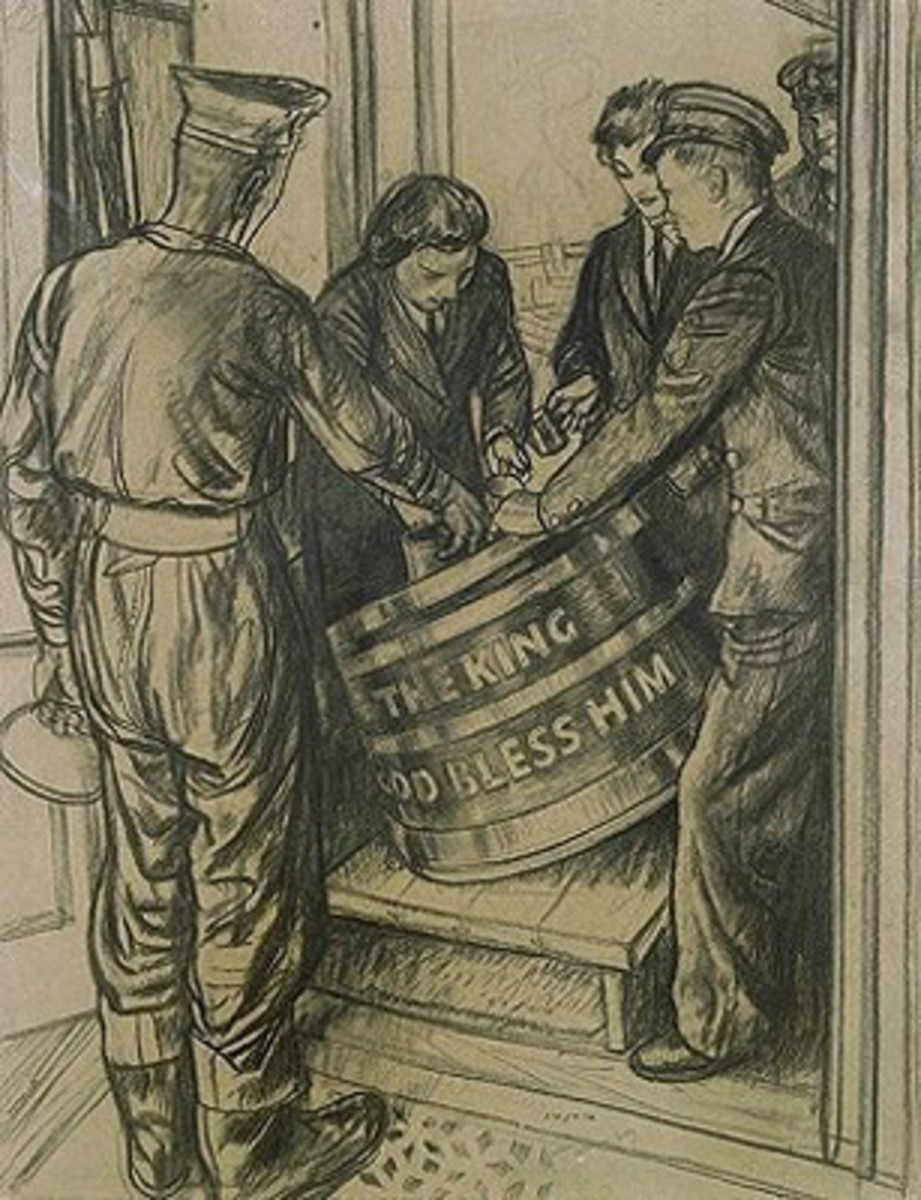 The British Royal Navy issued grog to its sailors well into the 20th Century.