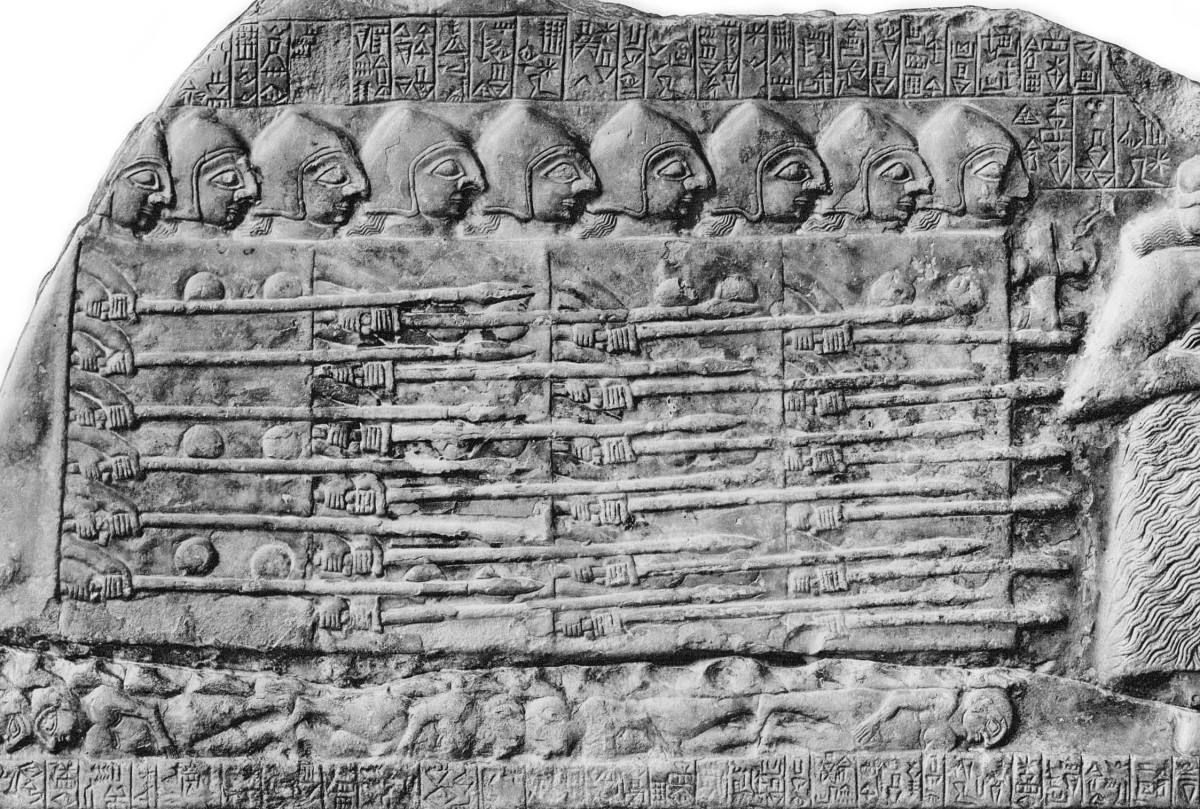 fragment of the Stele of the Vultures
