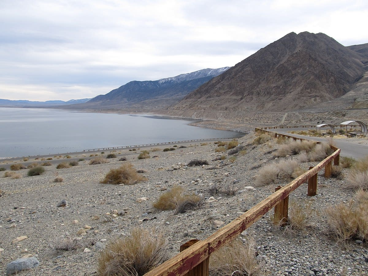 Walker Lake (notice how much lower the level of the lake is now)