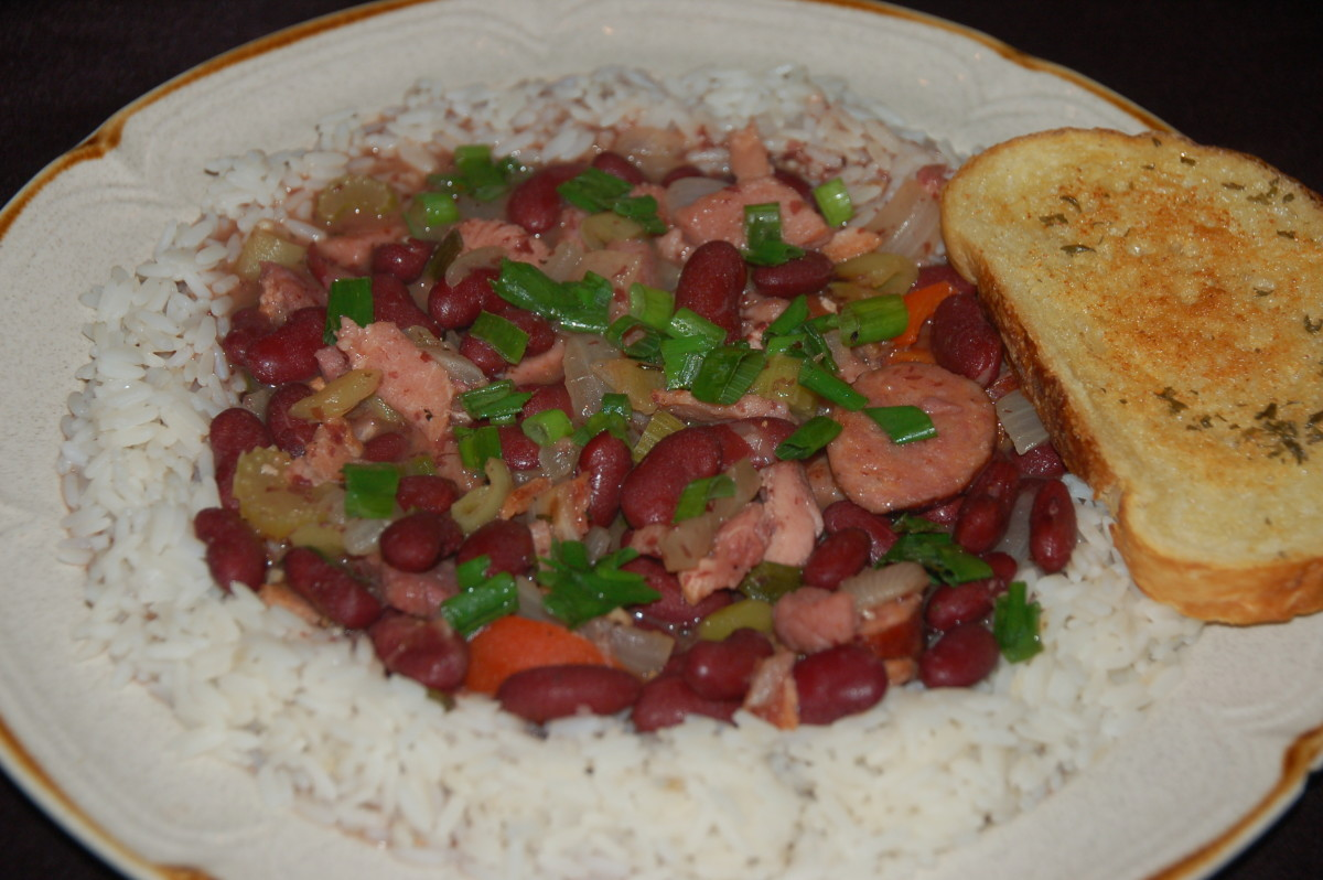 Red beans & rice together at last!