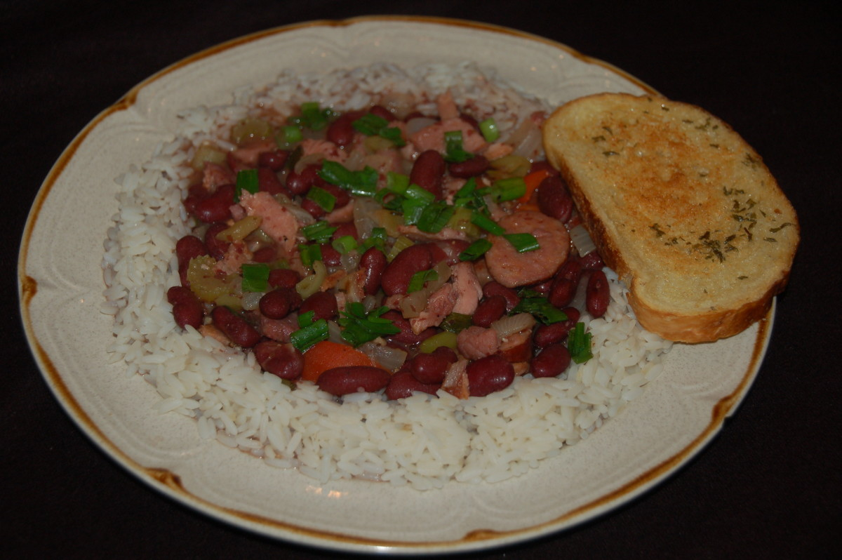 New Orleans Red Beans & Rice in just 30-45 minutes Depending on your culinary proficiency!