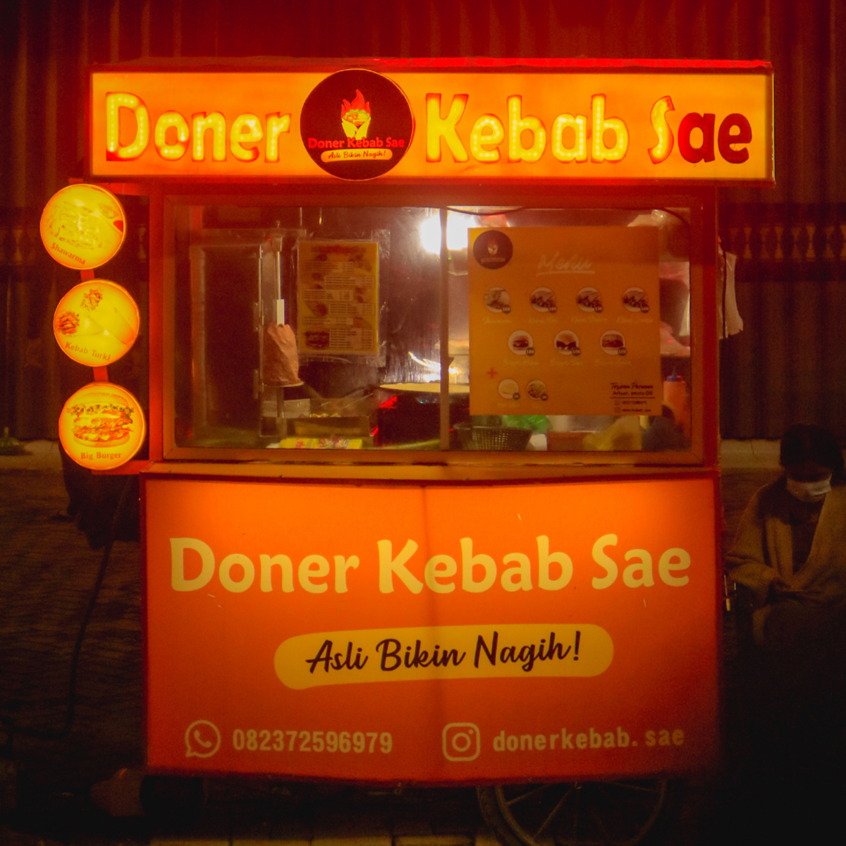 Doner kebab street food