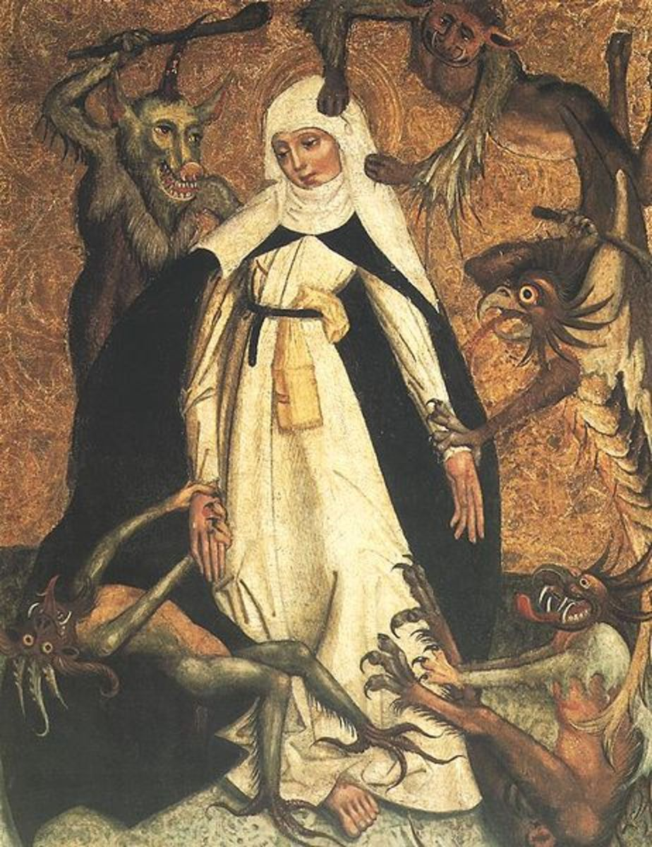 Title: Catherine of Siena besieged by Demons from National Museum in Warsaw, Poland.