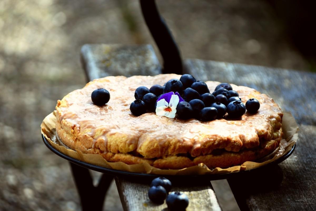 Bake blueberry pie fresh from your garden.