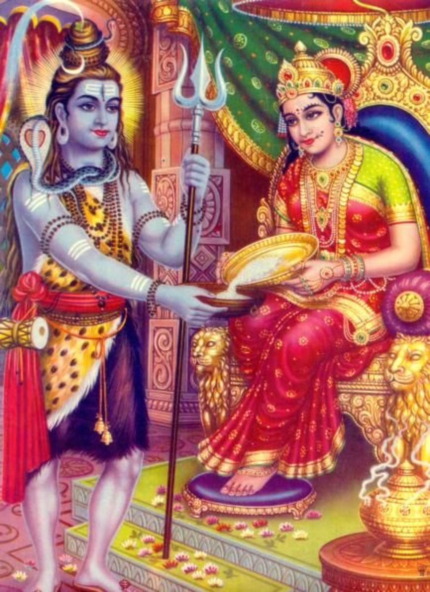 Shri Annapurnadevi with Lord shiva.