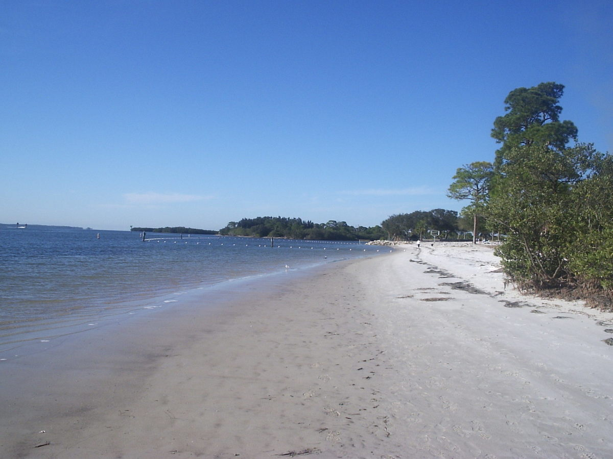 Anclote River Park in Pasco County has a long stretch of beach for people of all ages to enjoy.
