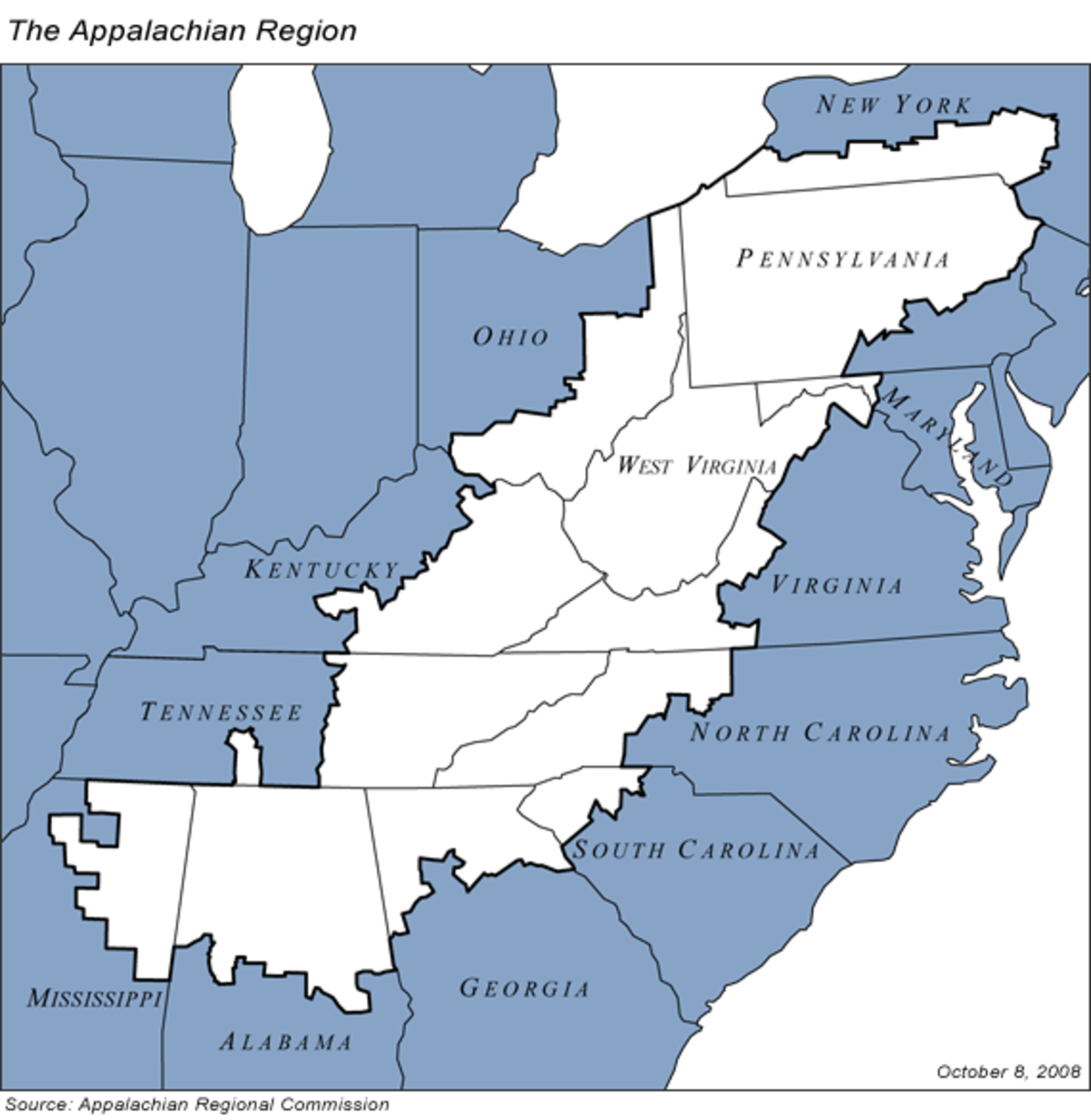 Regions of Appalachia