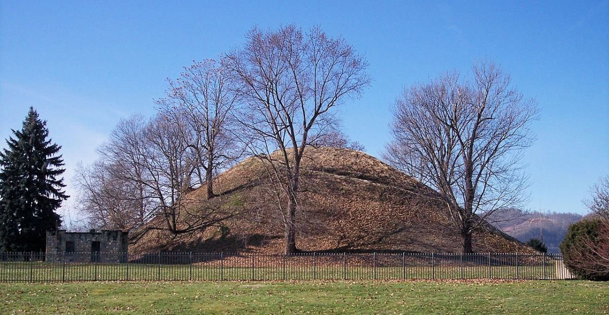 Grave Creek mound is one of the largest conical mounds in the United States. It was built by the Adena culture.