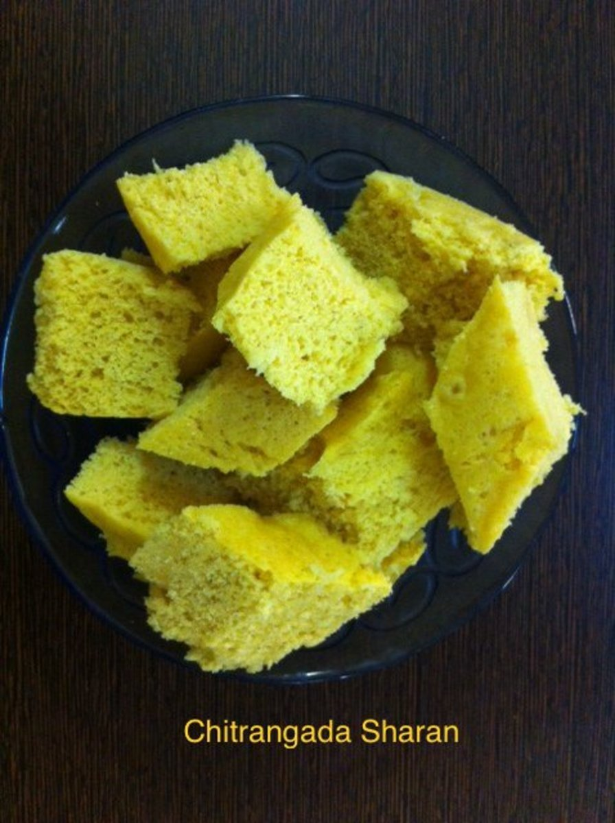 Cut the dhokla into desired shapes