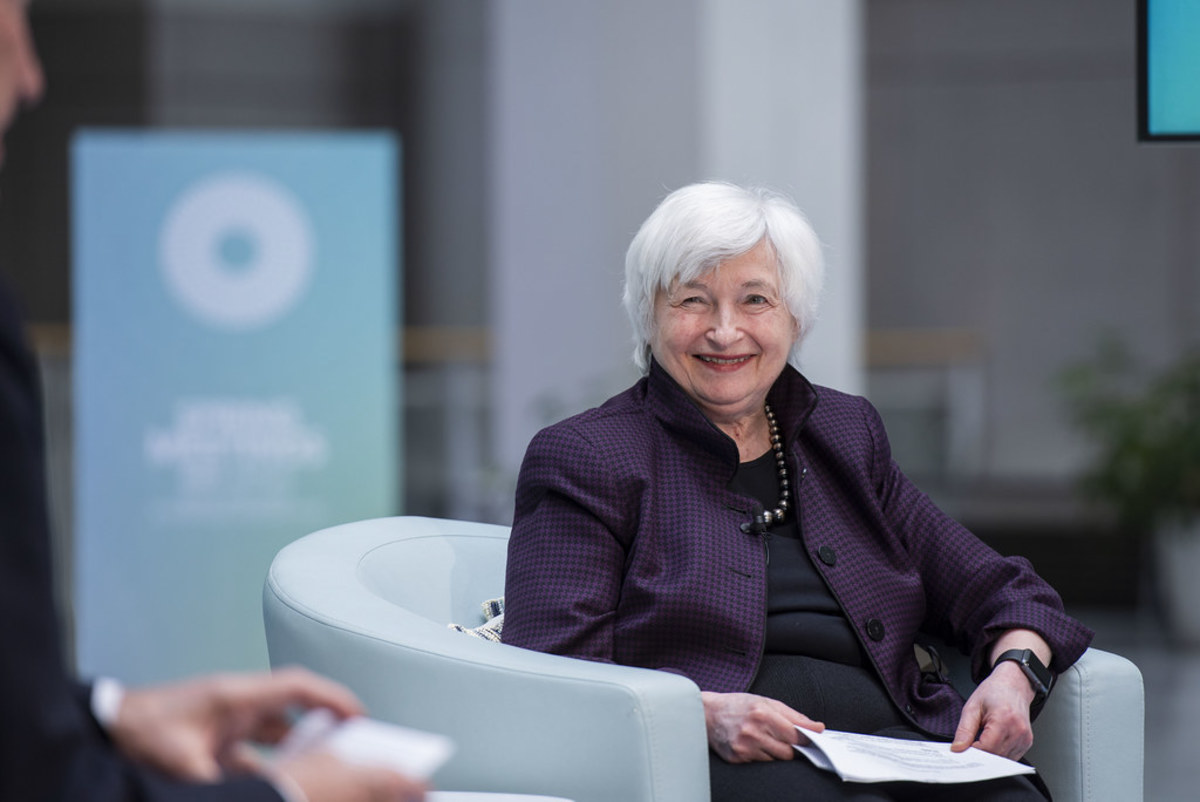 Treasury Secretary (and former Fed chair) Janet Yellen