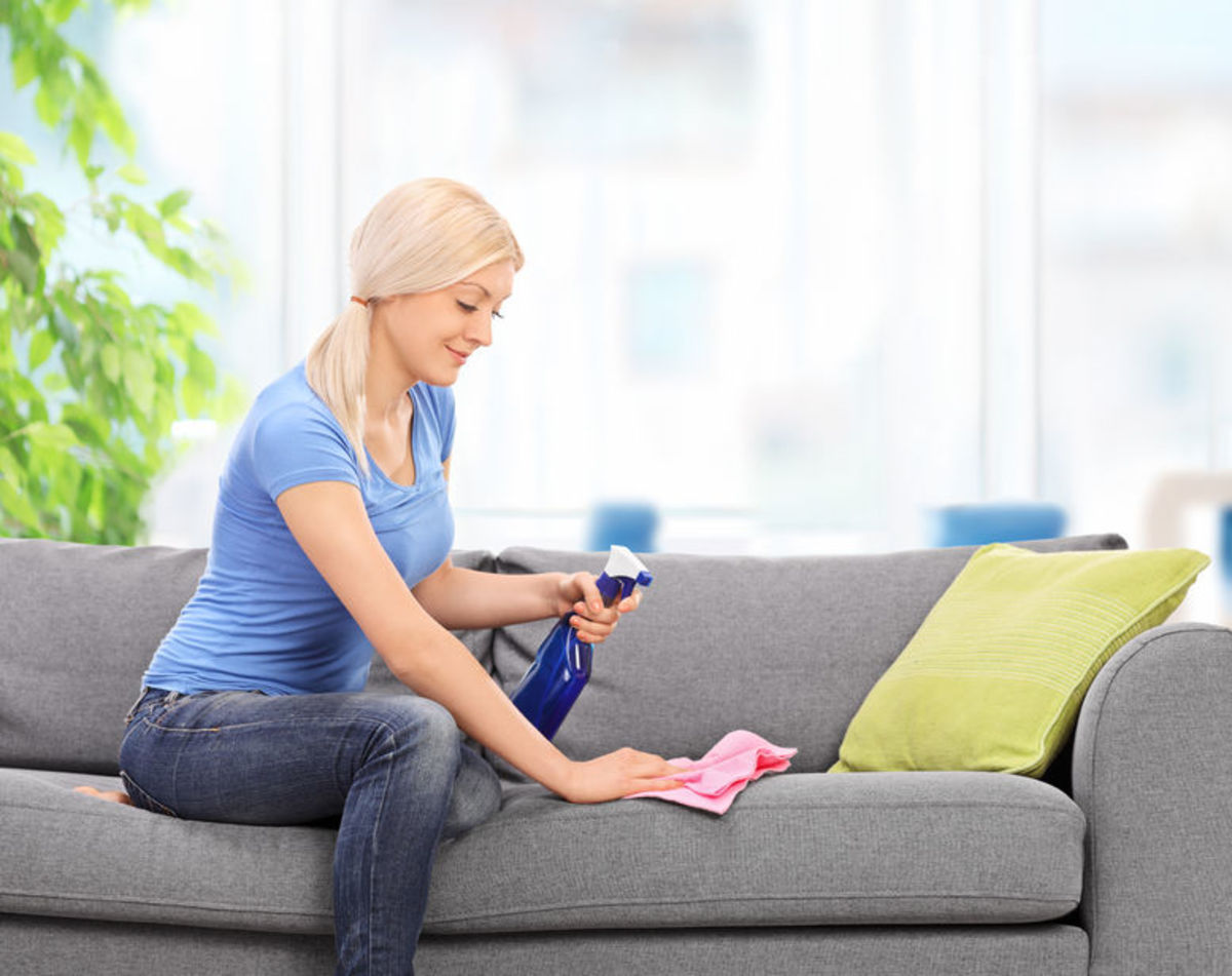 Spills and pet accidents can be cleaned with specialty spot cleaning products.