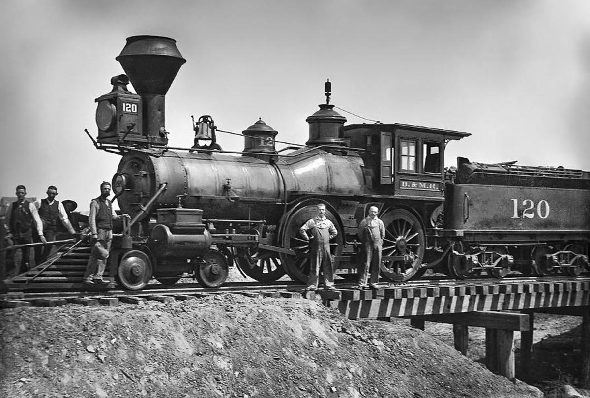 Early railroad engines helped  deliver goods and people across our nation.