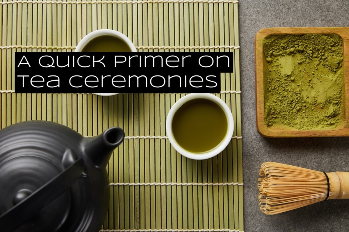 Tea ceremonies are popular throughout Asia. The partaking of tea is considered a practice in equanimity.