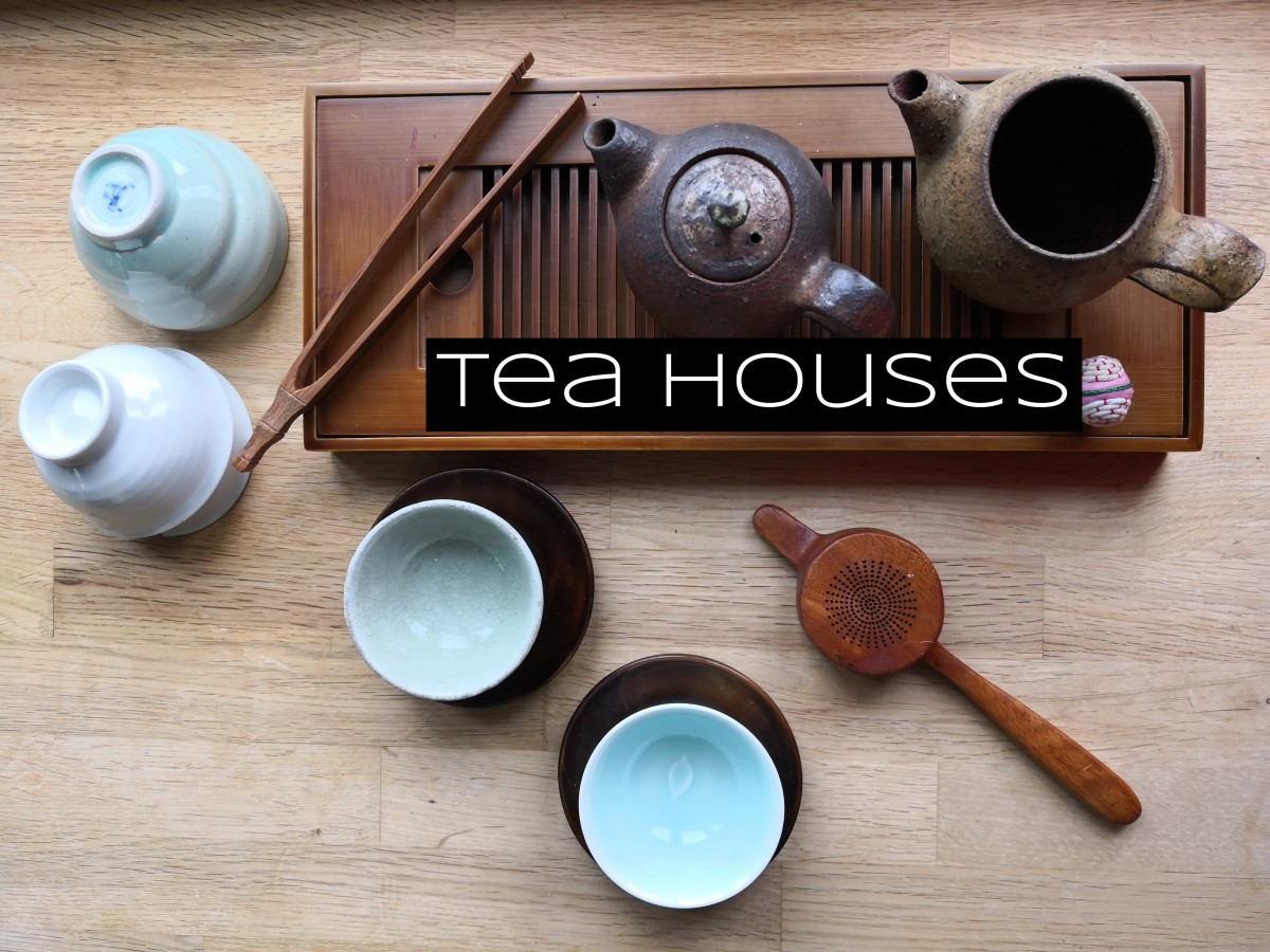 Tea houses around East Asia have different styles, different teas, and different etiquette. There isn't a one-size-fits-all aesthetic.